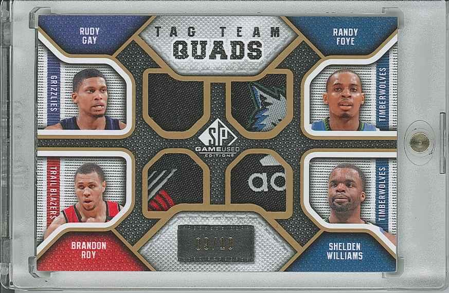 #TQRRBS Randy Foye/ Shelden Williams/ Brandon Roy/ Rudy Gay